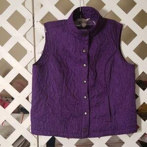Christopher & Banks Ladies Purple Vest Size P/L